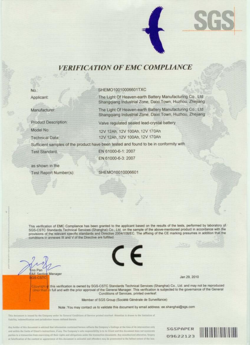 01-CEbattery Certificados Sistemas de Iluminación Solar SunMaster