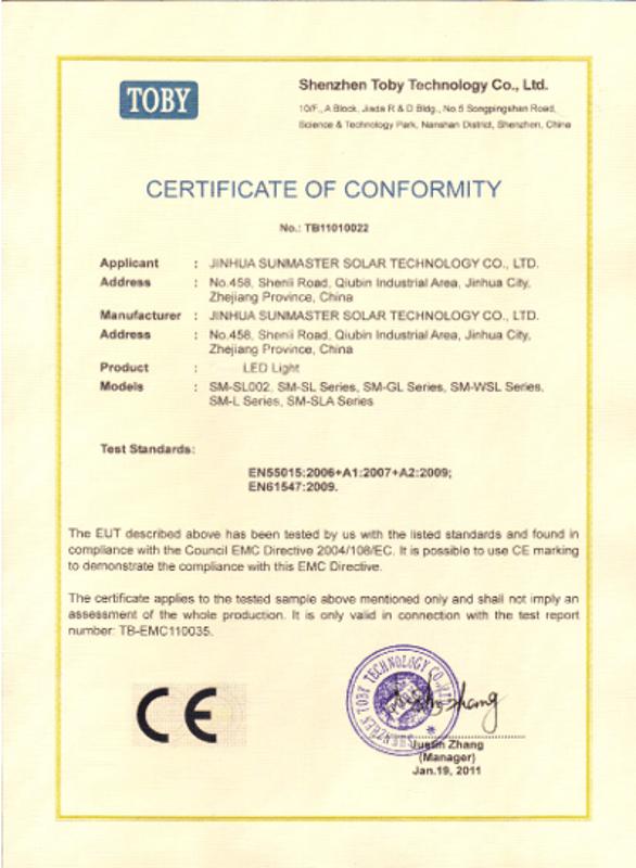 02-CE-LED-street-light-1 Certificados Sistemas de Iluminación Solar SunMaster
