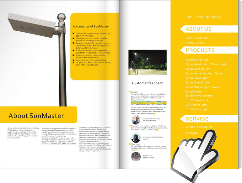 Solar-Street-Lights-Catalogue Sunmaster - Solar Lights Manufacturer