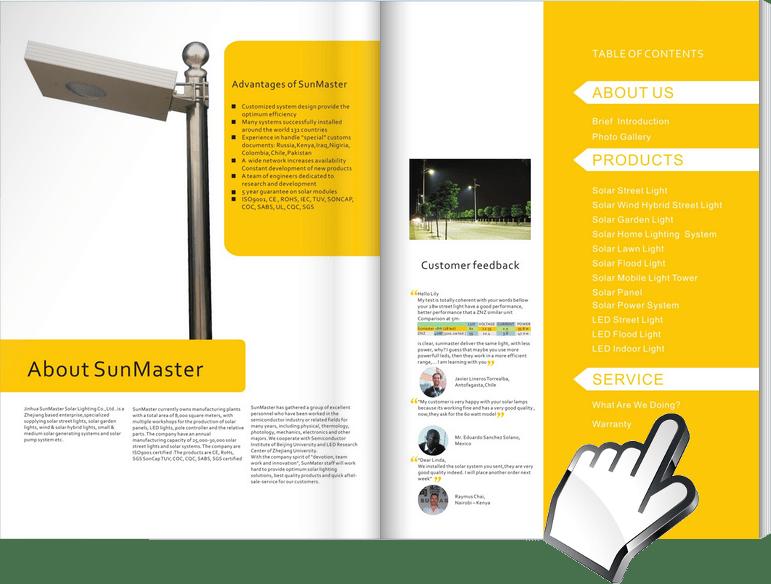 Solar-Street-Lights-Catalogue Sunmaster - Solar street light